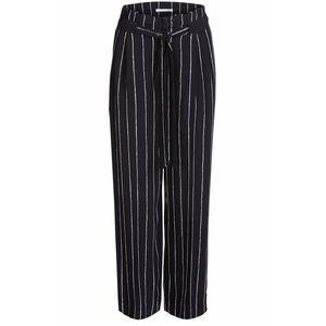 Oui striped wide leg high rise trouser